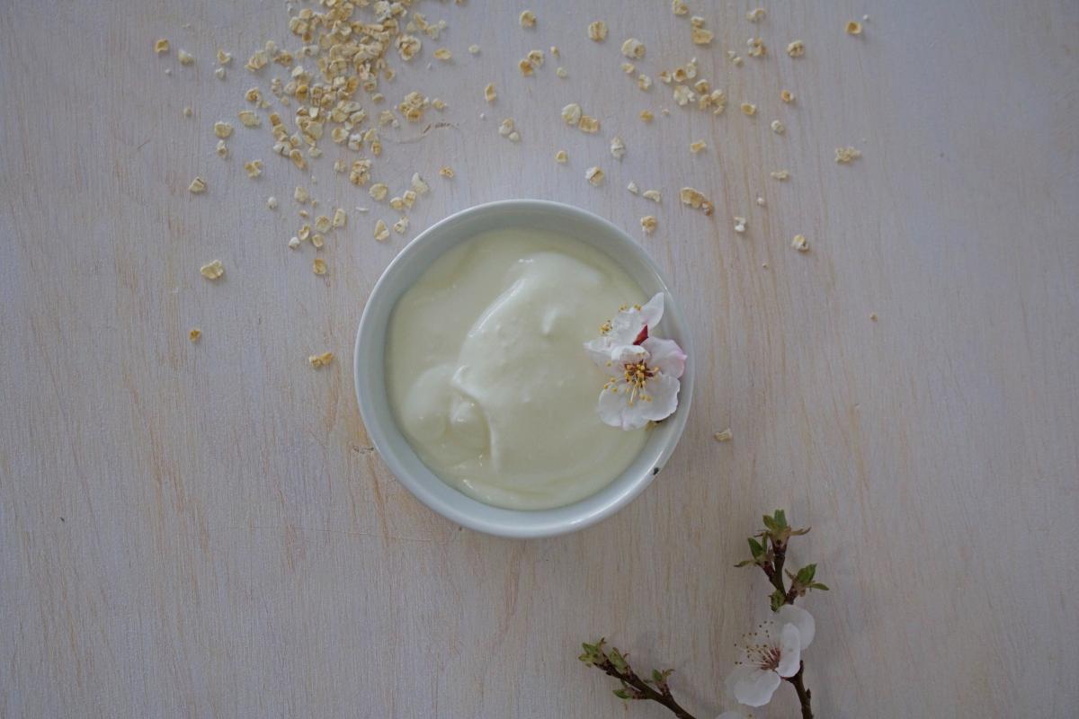 Receta yogur con avena